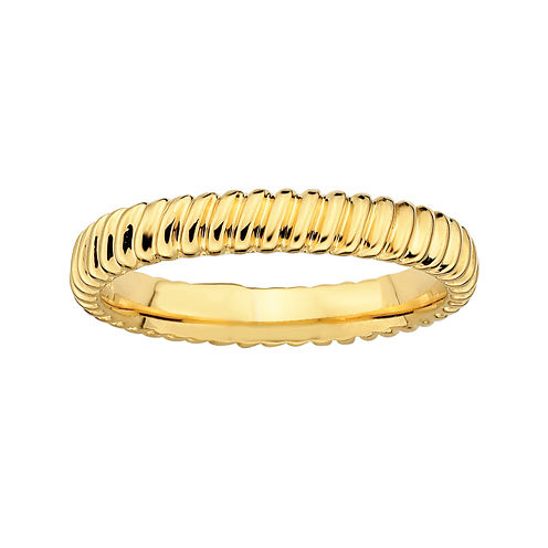 Personally Stackable 14K Yellow Gold Over Sterling Silver 3.5mm Twisted Ring