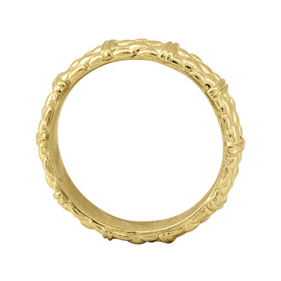 Personally Stackable 18K Yellow Gold Over Sterling Stackable 3.5mm Cable RIng