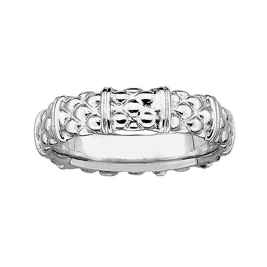 Personally Stackable Sterling Silver Stackable 3.5mm Cable Ring