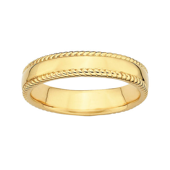 Personally Stackable 18K Yellow Gold Over Sterling 1.5mm Milgrain Band Ring