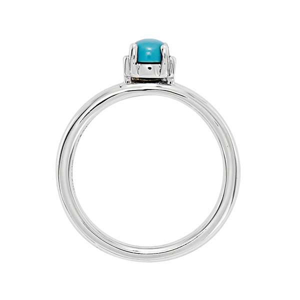 Personally Stackable Genuine Turquoise Sterling Silver Stackable Ring