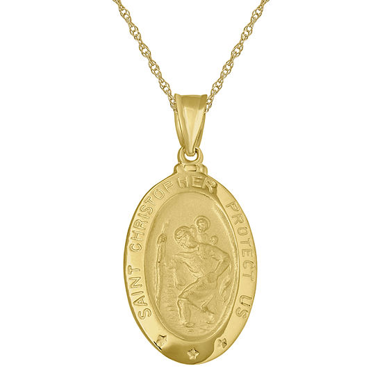 Infinite gold 14k st christopher pendant infinite gold 14k yellow gold st christopher pendant necklace aloadofball Gallery