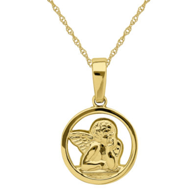Infinite Gold™ 14K Yellow Gold Angel Pendant Necklace