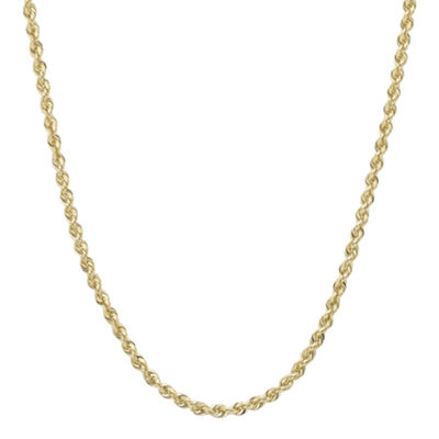 "Infinite Gold™ 14K Yellow Gold 16"" or 18"" Glitter Solid Rope Chain"