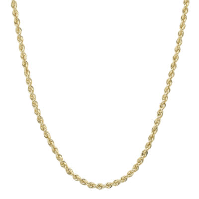 "Infinite Gold™ 14K Yellow Gold 20"" Glitter Solid Rope Chain"