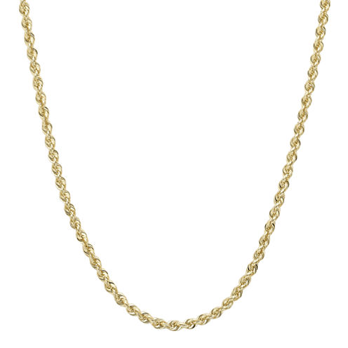 """Infinite Gold™ 14K Yellow Gold 30"""" Glitter Solid Rope Chain"""
