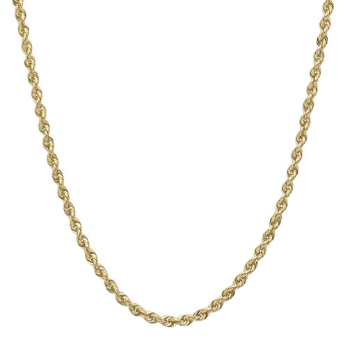 """Infinite Gold™ 14K Yellow Gold 16"""" or 36"""" Hollow Glitter Rope Chain"""