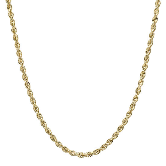 "Infinite Gold™ 14K Yellow Gold 20"" Hollow Glitter Rope Chain"