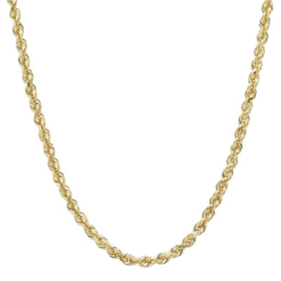 """Infinite Gold™ 14K Yellow Gold 22"""" Glitter Solid Rope Chain"""