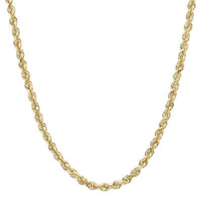 "Infinite Gold™ 14K Yellow Gold 18"" Glitter Hollow Rope Chain"