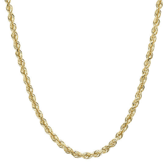 Infinite Gold 14k Yellow Gold 18 Glitter Hollow Rope Chain