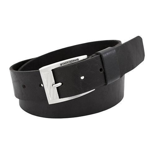 Stacy Adams® Buffalo Leather Belt
