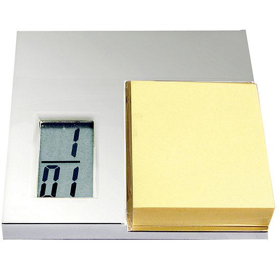 Natico Digital Desk Alarm Clock and Notepad