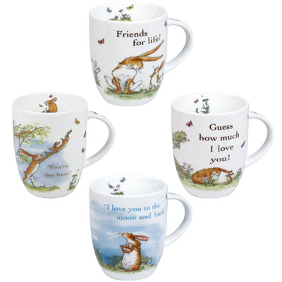 Konitz Guess How Much I Love You Set of 4 Mugs