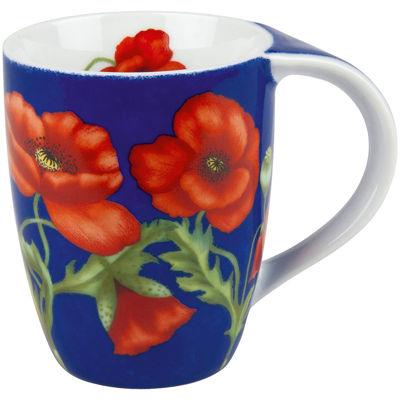 Konitz Poppy Blossoms Set of 4 Mugs