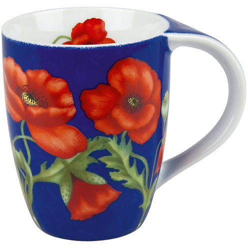 Konitz Poppy Blossoms Set of 4 Mugs