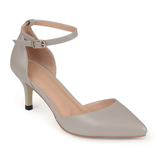Journee Collection Womens Ike Ankle-Strap Pumps