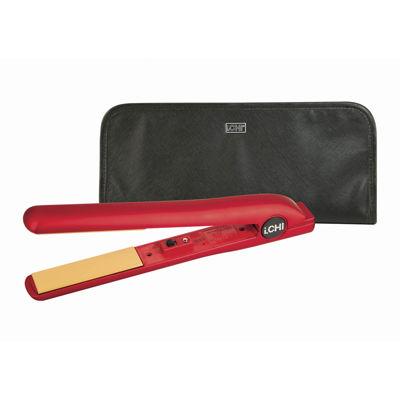 """iCHI® Scarlet Night 1"""" Flat Iron + Travel Bag"""