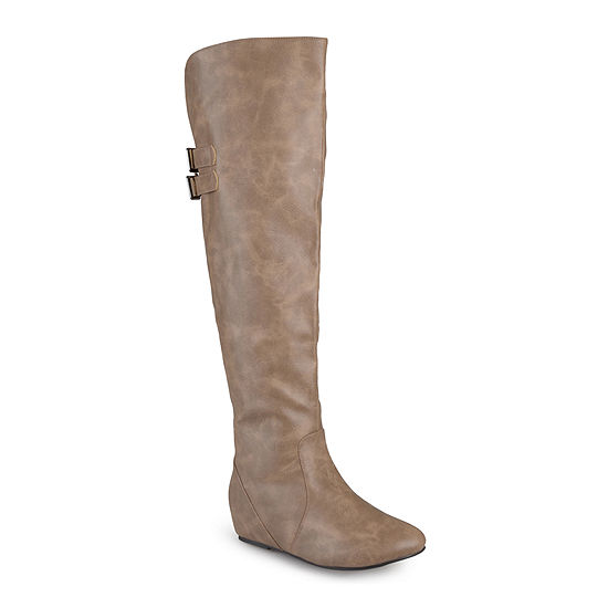 Journee Collection Angel Over The Knee Riding Boots Wide Calf