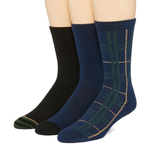 Stafford® Mens 3-pk. Crew Socks