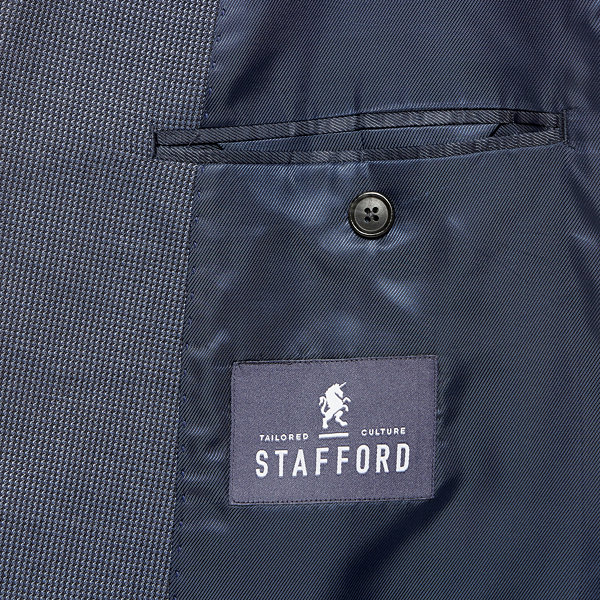 Stafford® Travel Year-Round Blue Tic Sport Coat
