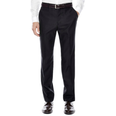 JF J. Ferrar® Luster Herringbone Flat-Front Pants