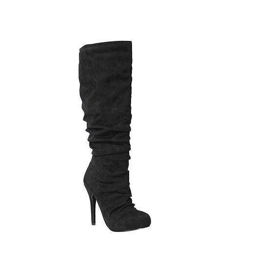 Michael Antonio Womens Hadley-Sue Slouch Boots Stiletto Heel Pull-on