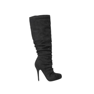 Michael Antonio Womens Hadley-Sue Slouch Boots Stiletto Heel Pull-on
