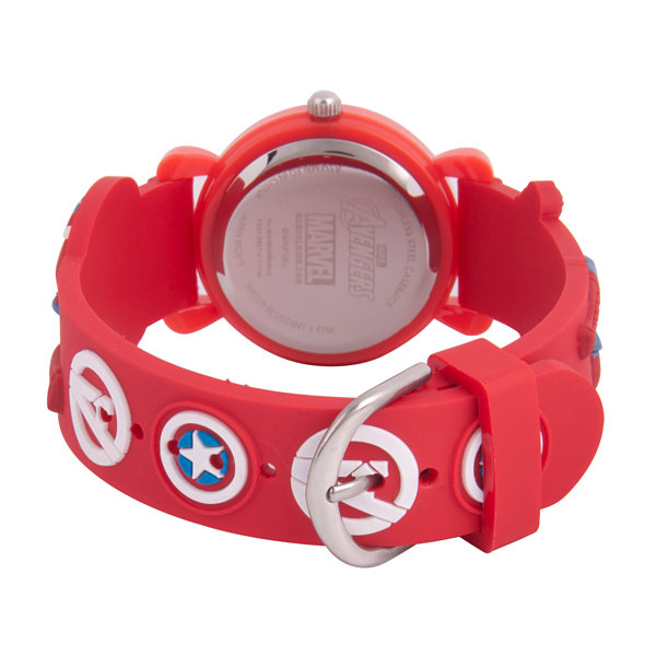 Avengers Boys Red Strap Watch-Wma000155