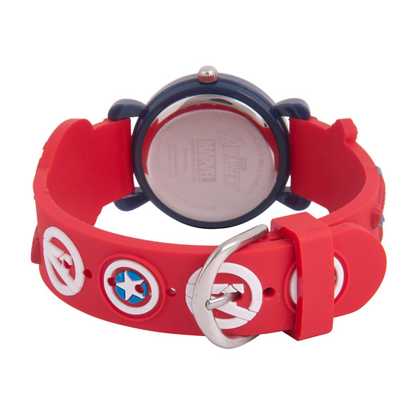 Avengers Boys Red Strap Watch-Wma000157