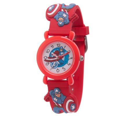 Avengers Boys Red Strap Watch-Wma000158