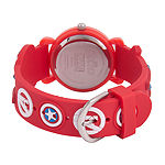 Marvel Avengers Boys Red Strap Watch-Wma000159