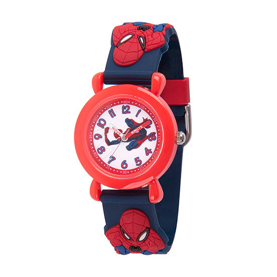 Spiderman Boys Blue Strap Watch-Wma000161