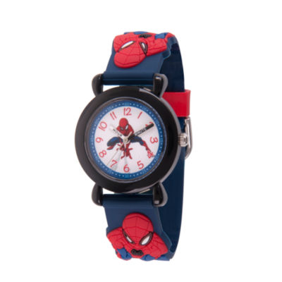 Spiderman Boys Blue Strap Watch-Wma000162