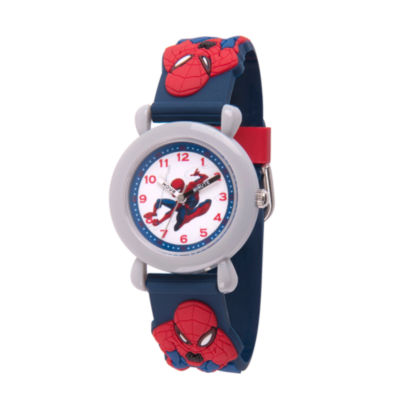 Spiderman Boys Blue Strap Watch-Wma000163