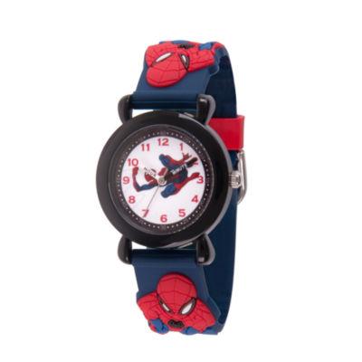 Spiderman Boys Blue Strap Watch-Wma000164