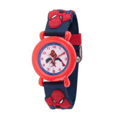 Spiderman Boys Blue Strap Watch-Wma000165