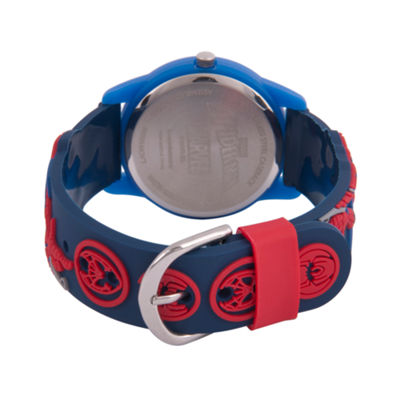 Spiderman Boys Blue Strap Watch-Wma000168