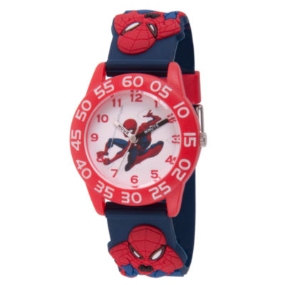 Spiderman Boys Blue Strap Watch-Wma000169