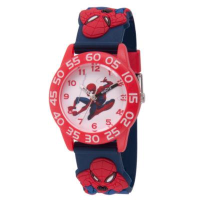 Spiderman Boys Blue Strap Watch-Wma000169