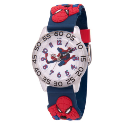 Spiderman Boys Blue Strap Watch-Wma000170