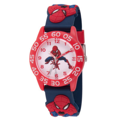 Spiderman Boys Blue Strap Watch-Wma000171