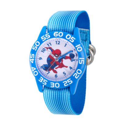 Spiderman Boys Blue Strap Watch-Wma000172
