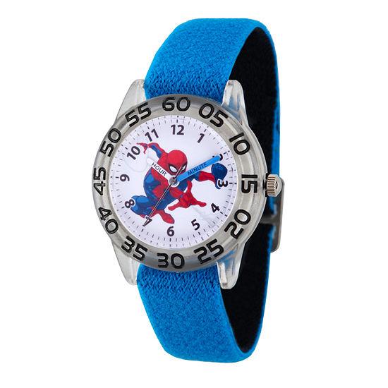 Marvel Spiderman Boys Blue Strap Watch-Wma000173