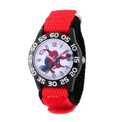 Spiderman Boys Red Strap Watch-Wma000174