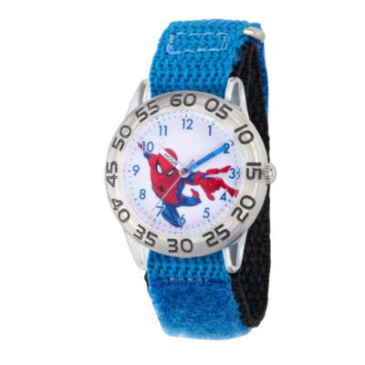 Spiderman Boys Blue Strap Watch-Wma000175