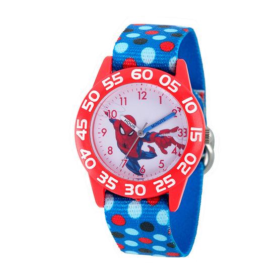 Spiderman Boys Blue Strap Watch-Wma000177