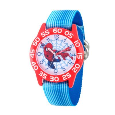 Spiderman Boys Blue Strap Watch-Wma000178