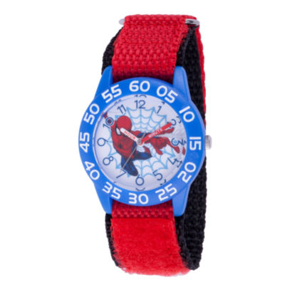 Spiderman Boys Red Strap Watch-Wma000179