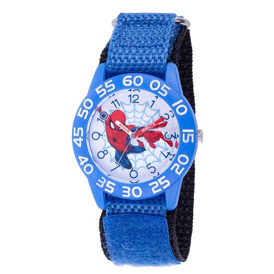 Marvel Spiderman Boys Blue Strap Watch-Wma000180